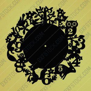 dxfstockcom-cnc-best-animals-clock-design-2