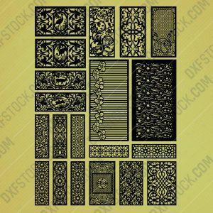 dxfstockcom-cnc-pack-scene-flowers-fesh-pattern-106-2