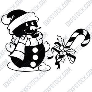 dxfstockcom-cnc-snowman-candy-cane-125-1