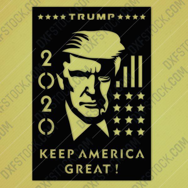 dxfstockcom-cnc-trump-2020-usa-america-design-2
