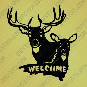 dxfstockcom-cncwelcom-deers-design-1