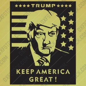 USA TRUMP 2020, Keep America Great Design files – EPS AI SVG DXF CDR