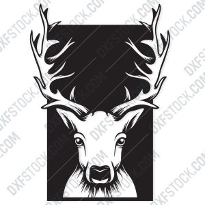 Deer head Design file - EPS AI SVG DXF CDR