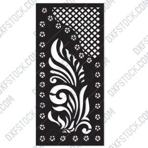 Pattern panel screen Design files - EPS AI SVG DXF CDR R00145