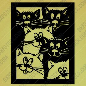 Lovely cats Design file - SVG DXF EPS AI CDR