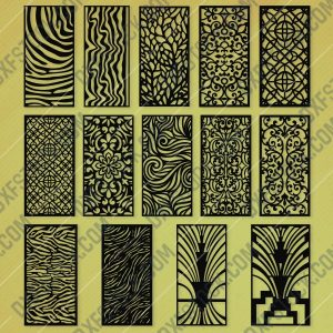 Panels Patterns And Scenes Decorative DXF SVG CDR EPS PNG AI P058