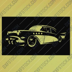 Vintage Classic Car Wall Art Design file - EPS AI SVG DXF CDR