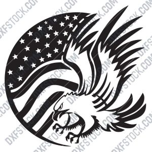 American Eagle Flag Design files - DXF SVG EPS AI CDR