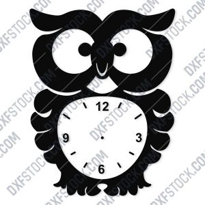 Owl Wall Clock Design file - DXF SVG EPS AI CDR