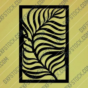 Leaf style gate Design files - DXF SVG EPS AI CDR