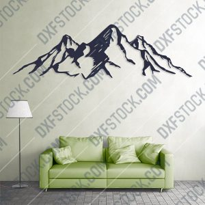 Mountains wall art Vector Design files - DXF SVG EPS AI CDR