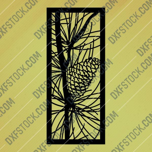 Panel Pattern Decorative DXF SVG CDR EPS PNG AI P093