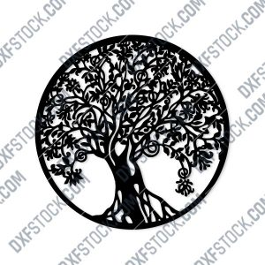 Tree Art Design files - DXF SVG CDR EPS AI - P199