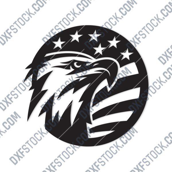 American Eagle Design files P0206 - DXF SVG EPS AI CDR
