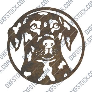 Dog Face design files - DXF SVG EPS AI CDR