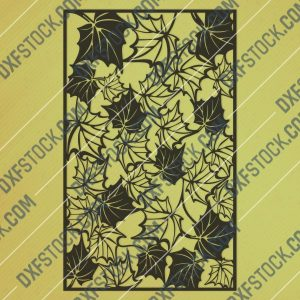 Leaf pattern decorative - DXF SVG CDR EPS PNG AI P0242