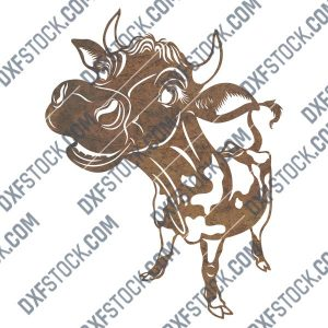Symbol of 2021 bull design files - DXF SVG EPS AI CDR