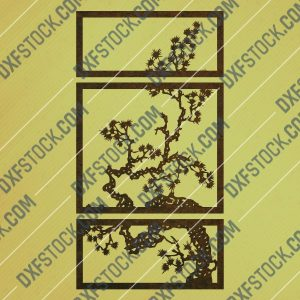 Tree wall decor design files - DXF SVG CDR EPS AI - P252
