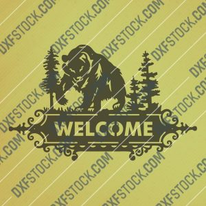 Welcome bear design files - SVG DXF EPS AI CDR