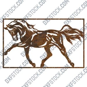 Horse wall decor design files – DXF SVG EPS AI CDR