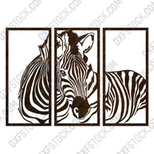 Zebra wall decoration design files - DXF SVG EPS AI CDR