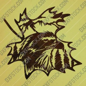 Bird in the jungle vector design files - DXF SVG EPS AI CDR