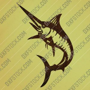 Blue marlin fish - DXF SVG EPS AI CDR
