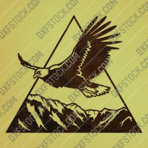 Eagle triangle mountain vector design files - DXF SVG EPS AI CDR