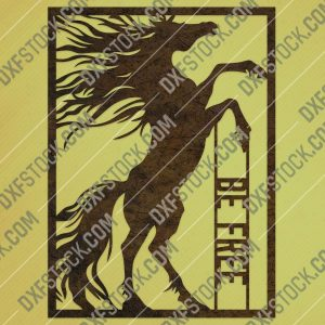 Be free Horse vector design files - DXF SVG EPS AI CDR