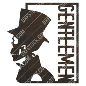 Gentlemen skull vector design files - DXF SVG EPS AI CDR