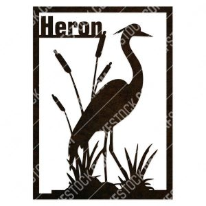 Heron flamingo vector design files - DXF SVG EPS AI CDR