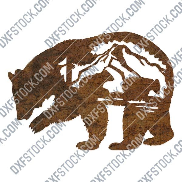 Mother bear design files - DXF SVG EPS AI CDR