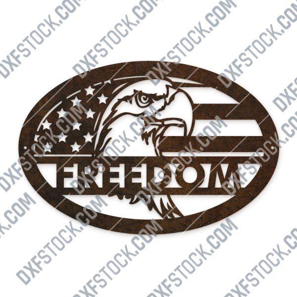 Eagle freedom design files - DXF CDR EPS AI SVG