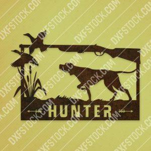 Hunter vector design files - EPS AI SVG DXF CDR