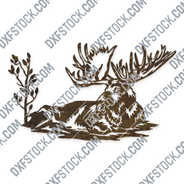 Moose vector design files - SVG DXF EPS AI CDR