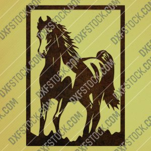 Horse decor vector design files - DXF SVG EPS AI CDR